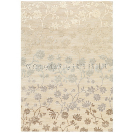 Tapis floral CHIC - BLOOM naturel - Arte Espina