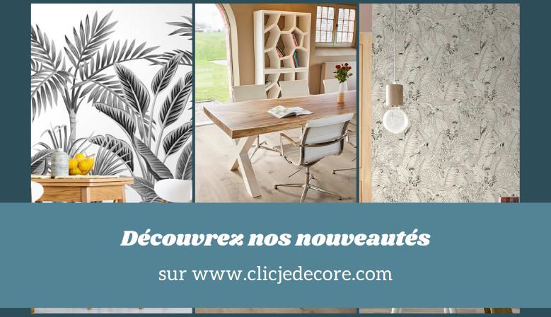 Des nouveautés : papier peint, sol, revêtement, panoramique, tapis